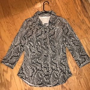 New York & Co Paisley Top